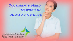 documents need for nursing in dubai