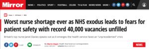 Shortage of Nurses in UK