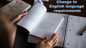 Change to English language requirements for UK Nurse.