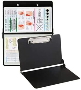 Nursing Clipboard Foldable with Storage-Black