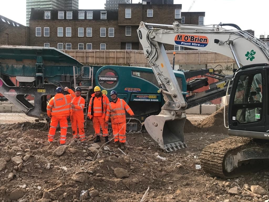 Operated Crusher hire
