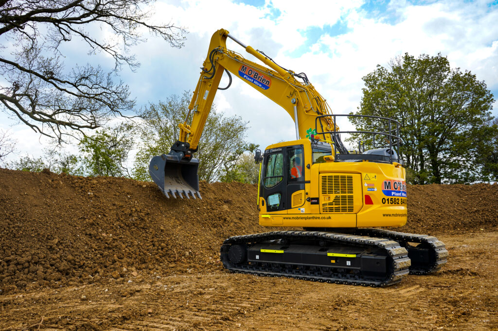Tier 5 excavator from M O'Brien Plant hire