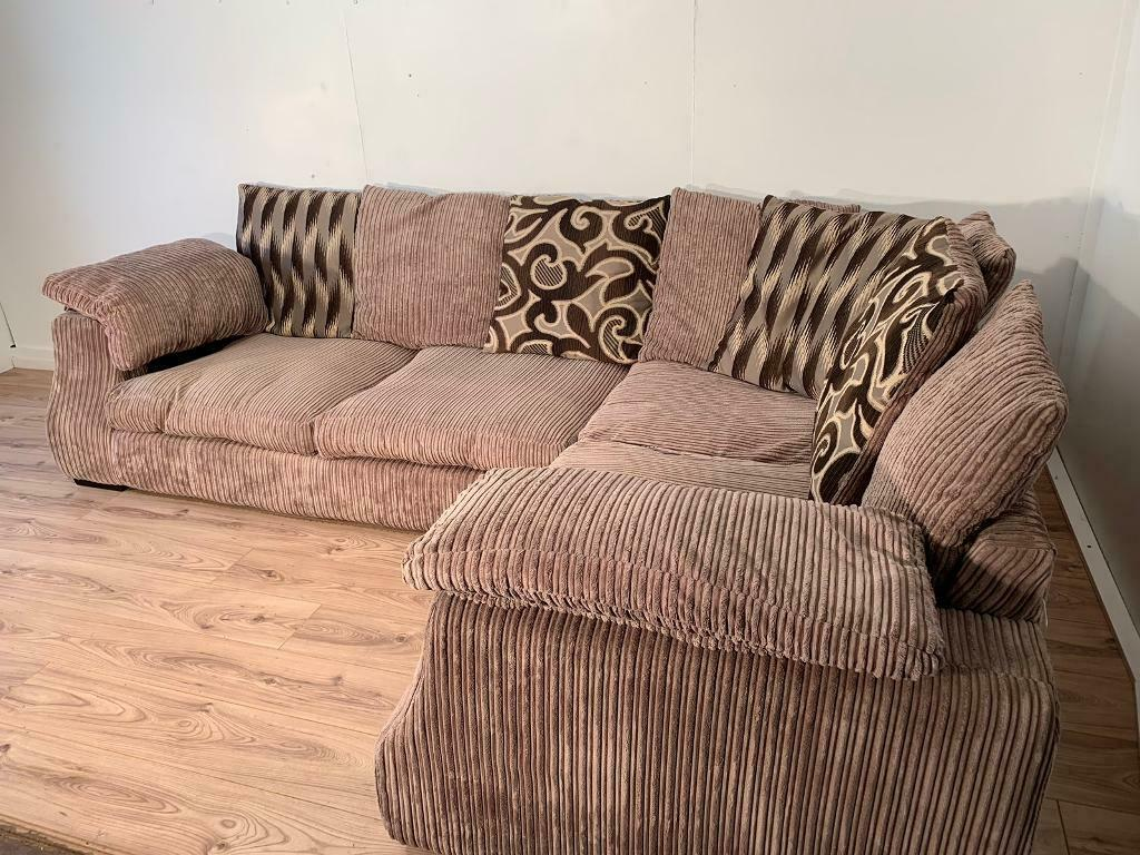 Beige corner sofa with free delivery within London