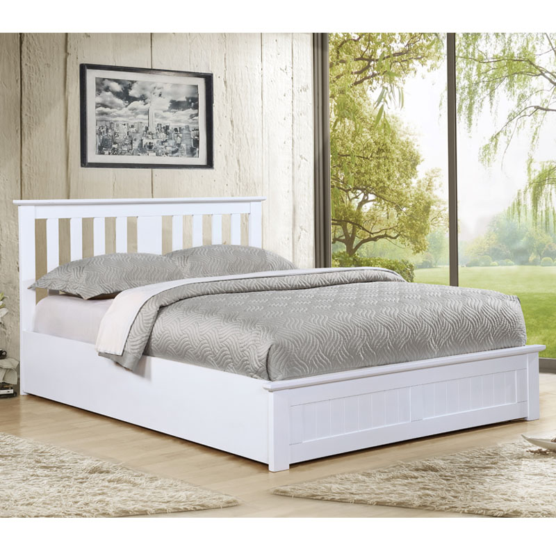 Cohiba Storage White Bed