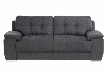 Addis 3 Seater Graphite Grey Fabric