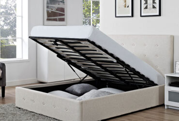 Chanel Fabric Storage Bed ( Double Bed )