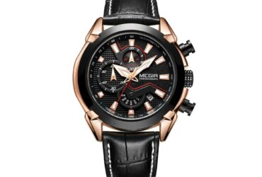 Chronograph Quartz Leather Strap Men Watch
