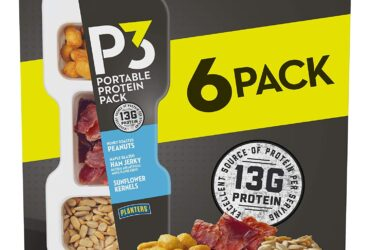 P3 With Honey Roasted Peanuts, Maple Glazed Ham Jerky & Sunflower Kernels Portable Protein Pack (1.8 oz Trays, Pack of 6) – Satisfying Snack, Work Snack, Active Lifestyle Snack and On-the-Go Snack