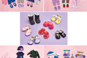 Sets of 3 18 &  Doll Outfits or Shoe Set