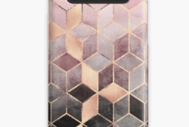 Pink And Grey Gradient Cubes Case & Skin for Samsung Galaxy