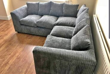 BOMBASTIC OFFER ON LIVERPOOL JUMBO CORD CORNER SOFA AVAILABLE IN 3+2 SOFA SET