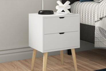 Lalani 2 Drawer Bedside Table (Set of 2)