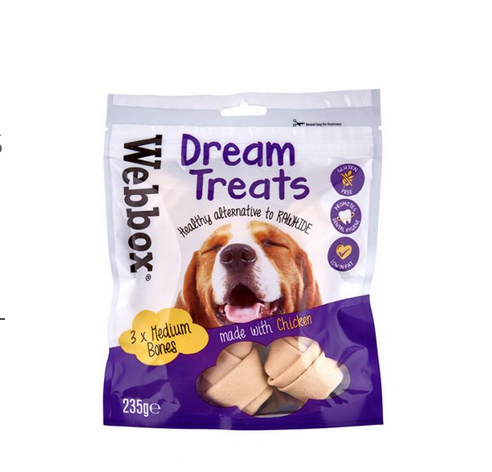 Webbox Dream Treats Medium Bones with Chicken
