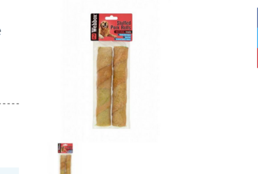 Webbox Hide Large Stuffed Pork Rolls Dog Treats