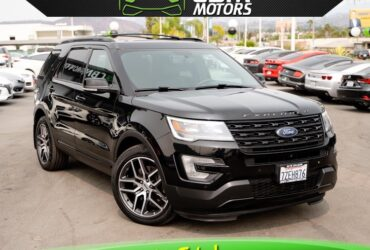 2017 FORD EXPLORER SPORT ECOBOOST AWD W/ DUAL MOONROOF/ NAV/ BACK UP CAMERA/ 3RD ROW