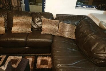 Brown Leather Corner-Sofa