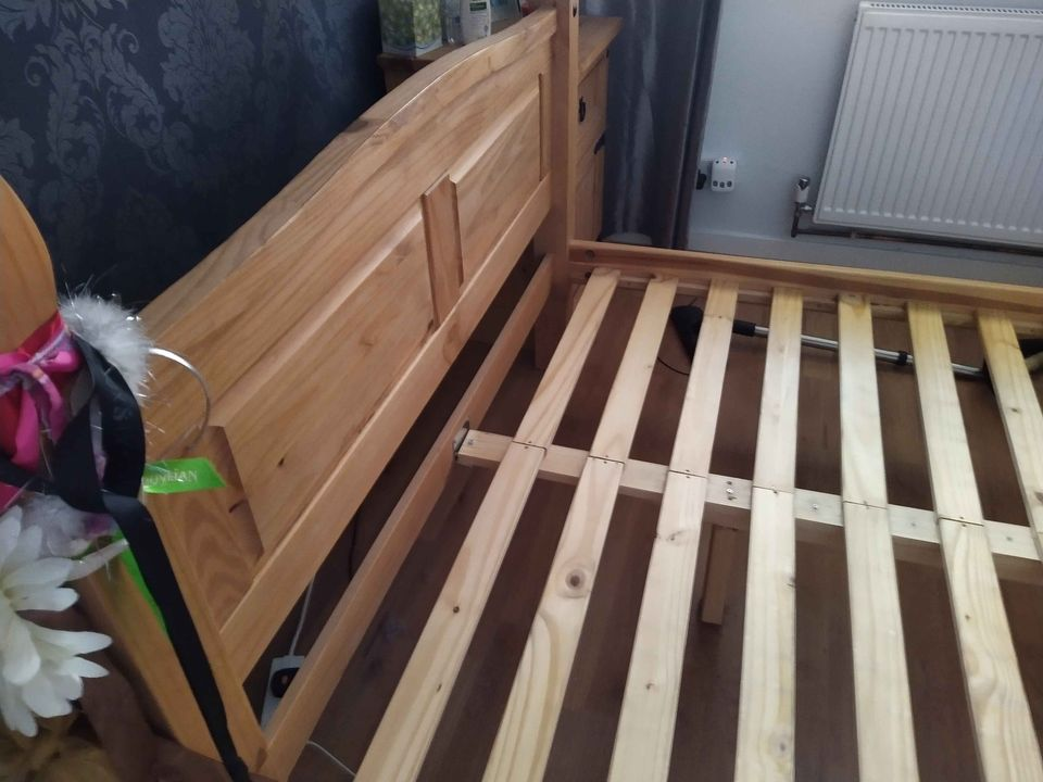 Solid Puerto Rico double bed frame