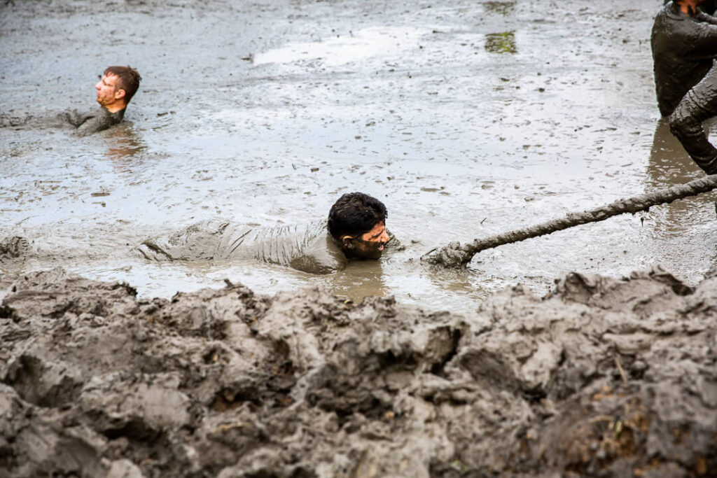 Lone Ranger mud trudge for charity Nuclear Races