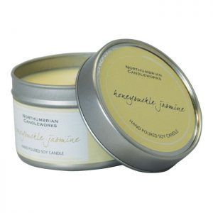 Soy candle in a tin - Honeysuckle Jasmin
