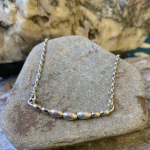 Oval Bead Choker Necklace Handmade by Corzo and Wood