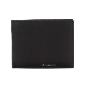 Leather Men's Bifold Wallet in Black - Corzo and Wood