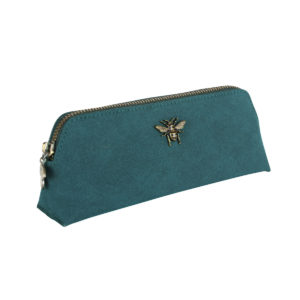 Alice Wheeler Teal Beauty and Brush Case - Corzo and Wood