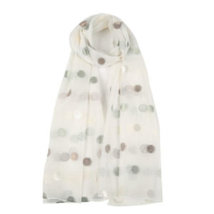 Dot Silk Scarf in white - Corzo and Wood
