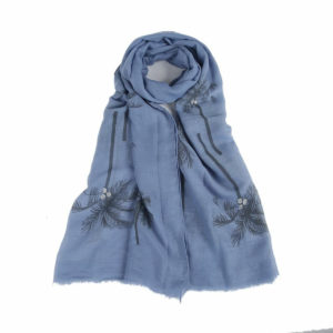 Palm Tree Scarf in Blue - Corzo and Wood
