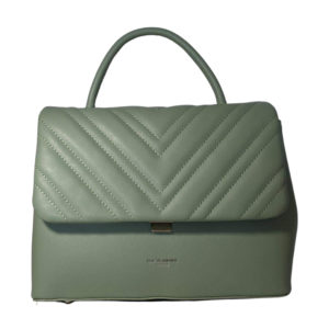 Quilted Grab Bag in Sage Green by David Jones - Corzo and Wood