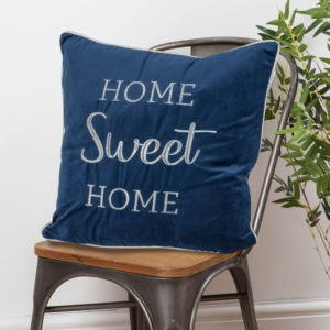 Home Sweet Home Velvet Cushion - Sold by Corzo and Wood