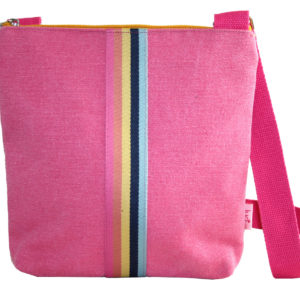 Messenger Bag with Contrasting Stripes - Sold by Corzo and Wood