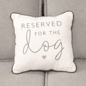 Reserved For The Dog Cushion - Sold by Corzo and Wood