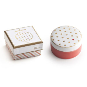 Round Heart Ceramic Box - Sold by Corzo and Wood