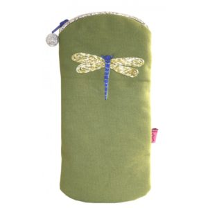 Embroidered Dragonfly Glasses Case - Sold by Corzo and Wood