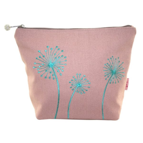 Large Dandelion Cosmetic Bag - Sold by Corzo and Wood