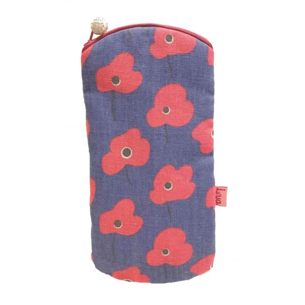 Printed Glasses Case - Poppy - Sold by Corzo and Wood