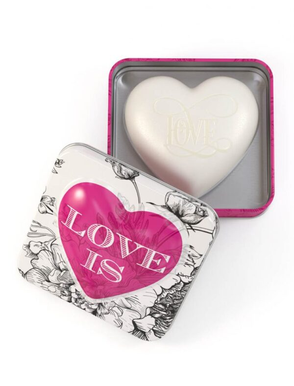 Heart Shaped Soap in a Tin - Sold by Corzo and Wood