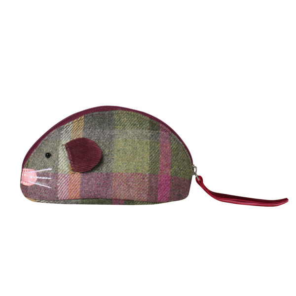 Tweed Mouse Purse - Clover