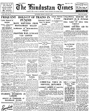 newspaper report on attack on train after partition announcement