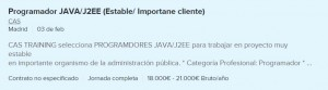 trabajo java j2ee madrid