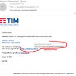 Phishing: finte mail TIM con un fantomatico rimborso per sottrarci i dati della carta di credito