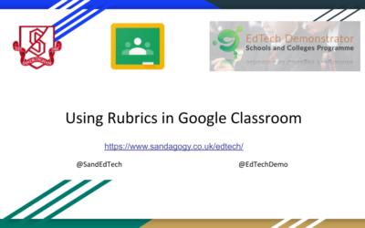 Using Rubrics in Google Classroom