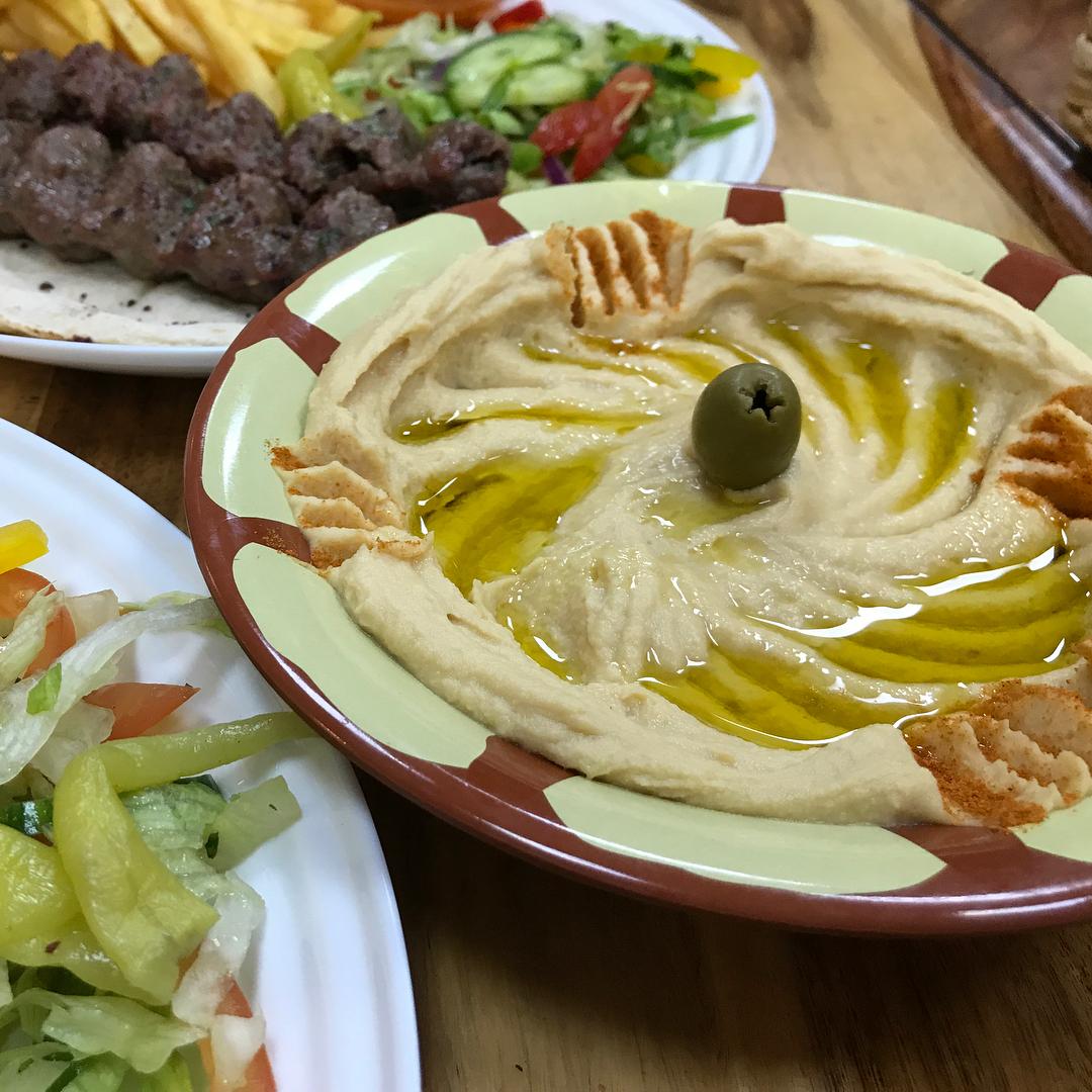 Close up Hummus Pasha Glasgow