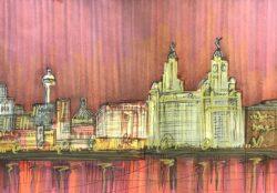 Edward Waite - Liverpool Sunset Skyline