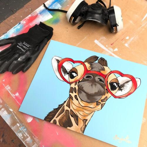 Amy Louise Art Giraffe - The Look of Love