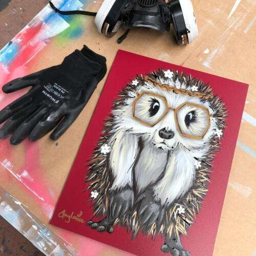 Amy Louise Art Hedgehog - Festival Ready