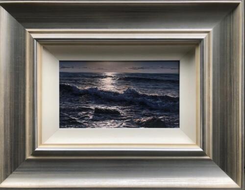 Alfredo Navarro Indigo Waves Original Painting Framed