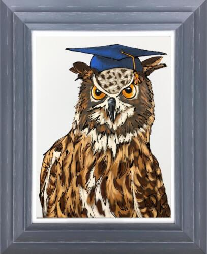 Amy Louise Wise Old Owl Original Painting
