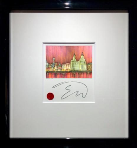 Edward Waite - Liverpool Skyline Sunset Original Study