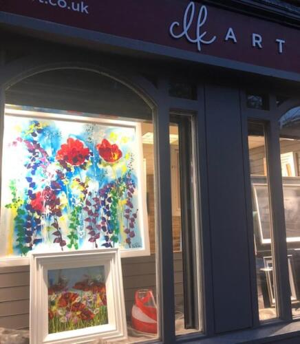 Art by Jean Picton and Rozanne Bell. Mixed Media Floral Paintings.